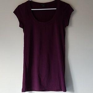 Theory maroon t-shirt